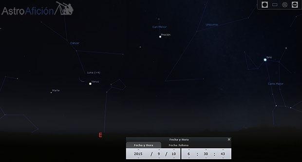 10 de septiembre conjuncion luna venus
