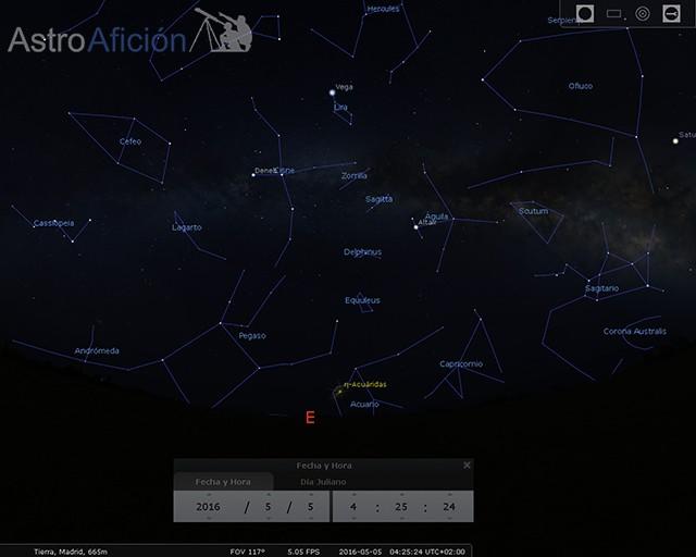 Lluvia de meteoros Eta-Acuáridas