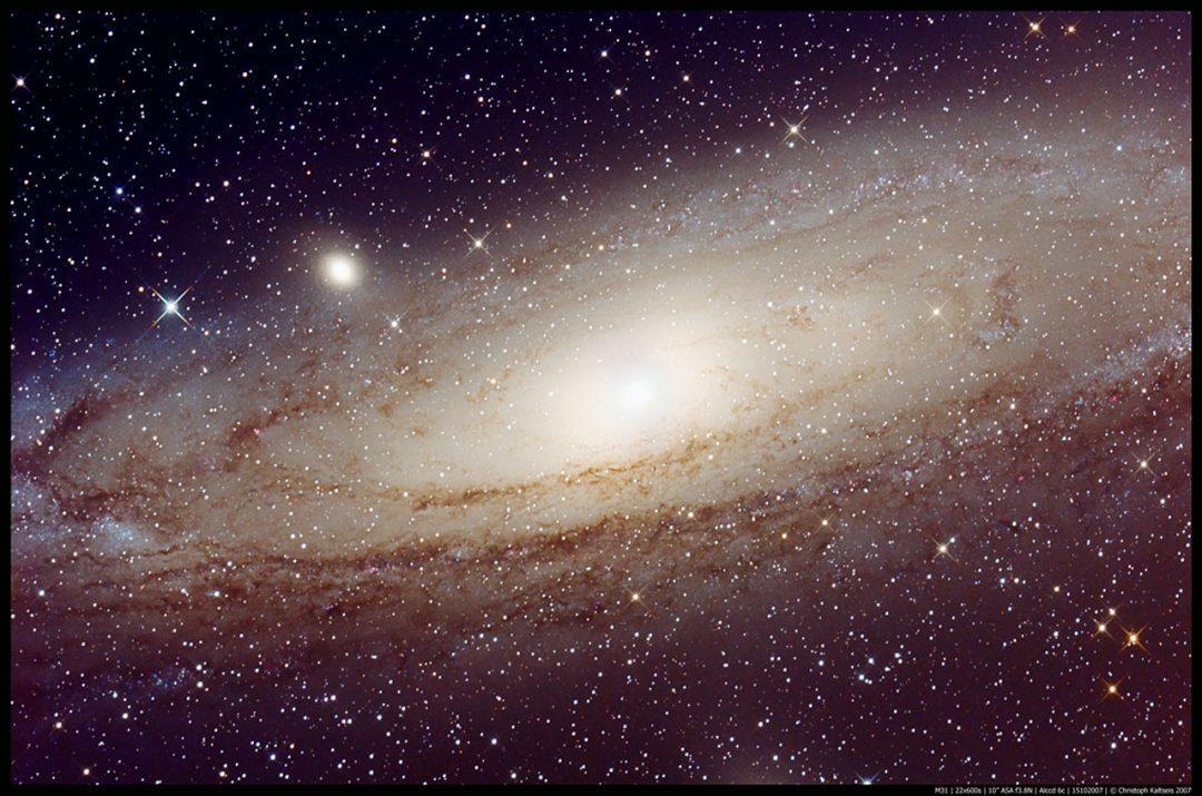 Galaxia de Andrómeda. Autor Christoph Kaltseis