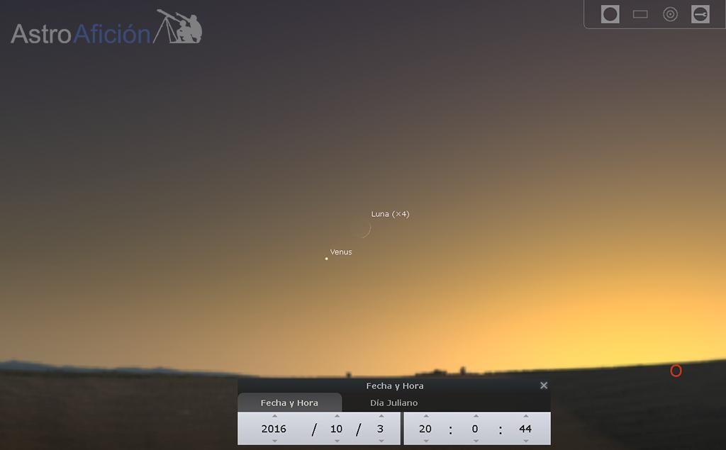 Conjunción-Luna-Venus