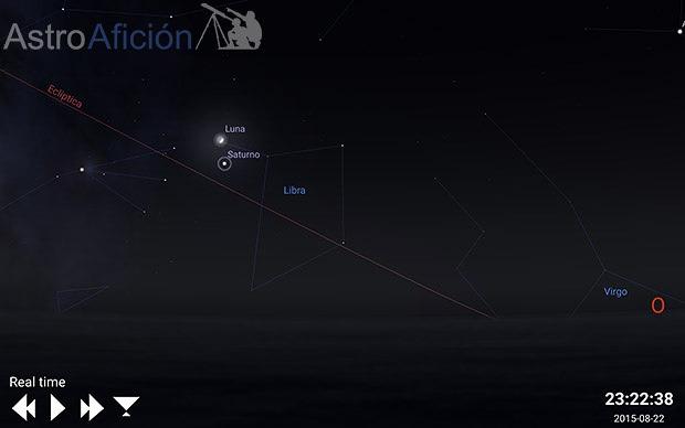 Conjunción Luna - Saturno 22 Julio 2015