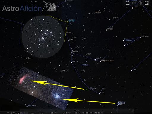 Objetos de la constelación de Perseus
