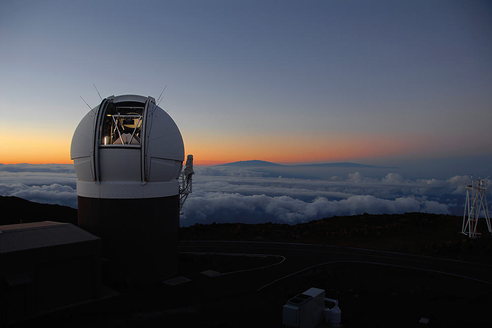 Pan-STARRS1 Observatory atop Haleakala Maui at sunset. Credit: Photo by Rob Ratkowski